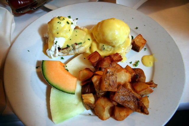 Crab Cake Benedict, Poogan's Porch