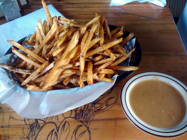 Tattooed Moose Duck fat fries and gravy