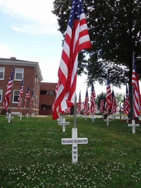 Ringgold, GA Memorial Day flags