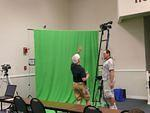 Setting up the green screen